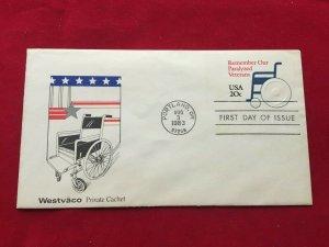1983 Scott U605 remember Veterans   FDC, private cachet