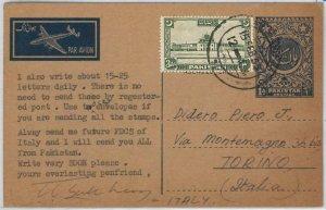 49002  - PAKISTAN - POSTAL HISTORY - Stationery Card  H&G  # 3 to ARGENTINA 1955
