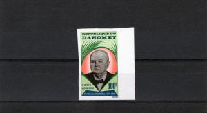 Dahomey 1965 Sc#C28 Sir Winston Churchill (1) Imperforated MNH VF