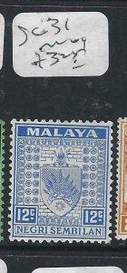 MALAYA NEGRI SEMBILAN  (P2206B) ARMS  12C  SG 31    MOG
