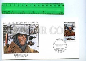 242056 MARSHALL ISLANDS WWII Battle of Bulge 1994 year FDC