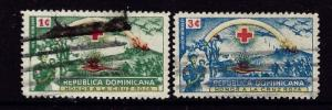 Dominican Republic 408 and 410 Used 1944 issues