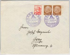 AUSTRIA / GERMANY - POSTAL HISTORY Brief : COVER with nice POSTMARK - WATCH 1938