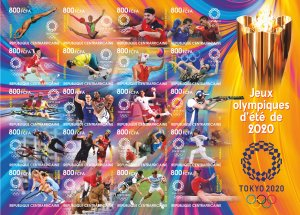 Stamps. Olympic Games 2020 in Tokyo 2021 year Tsar New imperforated