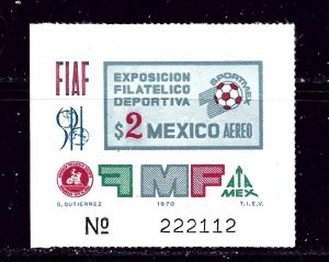 Mexico C374 MH 1970 souvenir sheet