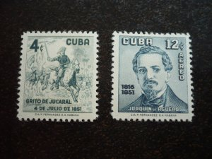 Stamps - Cuba - Scott# 573,C162 - Mint Hinged Set of 2 Stamps