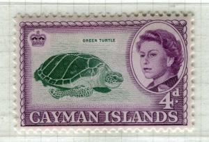 CAYMAN ISLANDS; 1962 early QEII pictorial issue fine Mint hinged 4d. value