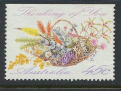 Australia SG 1318  Used - Greetings - Flowers top imperf