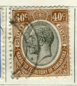 TANGANYIKA; 1927 early GV Head issue fine used 40c. value