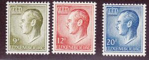 Luxembourg # 571, 573 & 575, Mint, Lightly Hinged