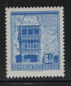 AUSTRIA, 629A, MNH, 1957-61, Golden roof