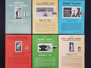 1964,65 Vintage USPS Bulletin Board Poster Folded w/ FDI Cancel Lot of 10