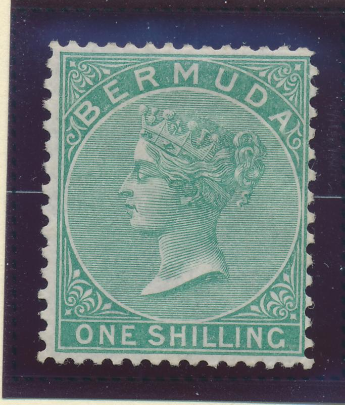 Bermuda Stamp Scott #9, Mint Hinged, Partial Gum