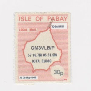 PABAY, British Local - 1998 - GM0PNS/P Operates on Pabay - Perf MNH Single Stamp