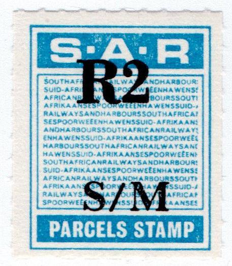 (I.B) South Africa Railways : Parcel Stamp R2