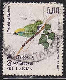 Sri Lanka 568 Used 1979 Yellow-Fronted Barbet