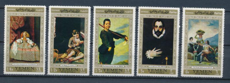 Yemen 1967 - Paintings by Flemish masters - 5 issues MNH