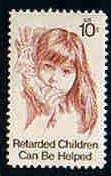 U.S.#1549 Retarded Children Can Be Helped 10c Single, MNH.