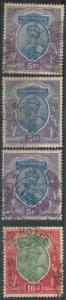 70441 - INDIA  - STAMPS - Stanley Gibbons #188*3 + 189*1  -  Finely USED