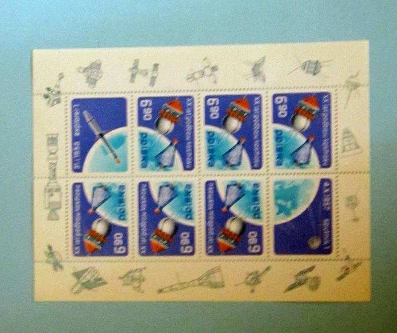 Poland - 2248, MNH Complete S/S. USSR/USA Space. SCV - $4.75