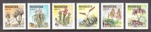 Rhodesia - Scott #352-357 - MNH - SCV $3.75