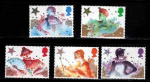 Great Britain Scott 1124-1128 MNH** 1985 Christmas Pantomime set