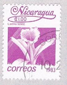 Nicaragua Flower purple 100 - pickastamp (AP109001)