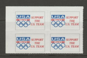 USA Barcelona Spain 1992 Olympics Fund Raiser 11-5 - mnh gum blk 4