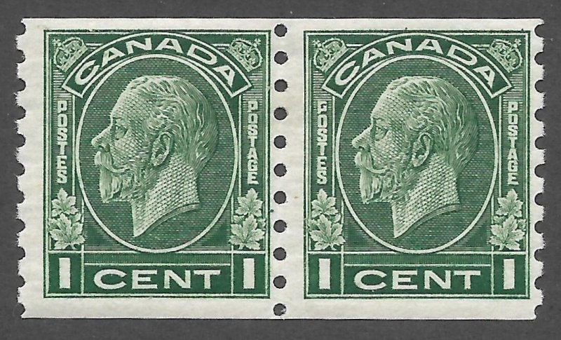 Doyle's_Stamps: VF MH 1933 Scott #205* Canadian KGV Coil Pair of Stamps