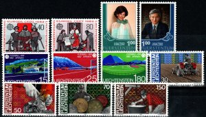Liechtenstein #733-43  MNH  CV $7.35 (X9479)