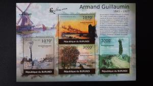Art - Burundi 2012. -  Armand Guillaumin ** MNH Sheet