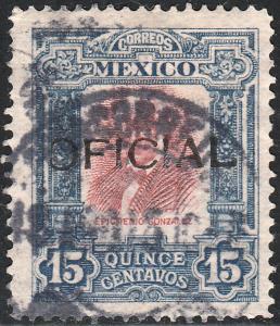 MEXICO O81, 15¢ USED. (127)