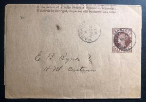1897 Barbados wrapper Cover Domestic Used