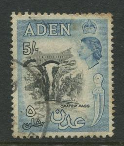 STAMP STATION PERTH Aden #58A - QEII Definitive Issue 1953-59  Used  CV$1.75.