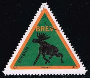 Sweden #2243 Forest Elk - Green; Used (1.00)