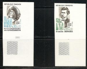 France B454-5 1972 Y&T 1706-7  Personalities IMPEF with m...
