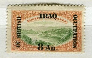 IRAQ; 1918 early BRITISH OCCUPATION issue Mint hinged 8a. value