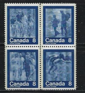 Canada 682a NH 1974 Block of 4