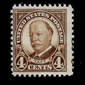 US 1930 Sc# 685 4  c William TAFT  Mint NG - Crisp Color