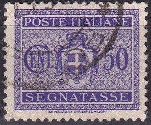 Italy #J58 F-VF Used CV $7.00   (Z9231)
