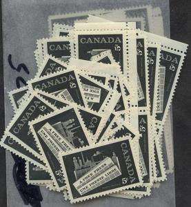 Canada - 1958 Newspaper Industry X 100 mint #375 F-VF-NH Most VF USC Cat. $45.