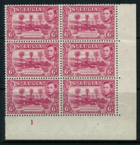 St. Lucia #119* NH Plate Block of 6 CV $39.00+ postage stamp