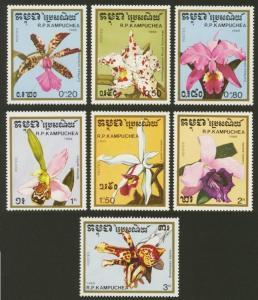 Cambodia Sc# 898-904 MNH Orchids