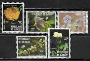 Djibouti #498-502 MNH Set - Flowers