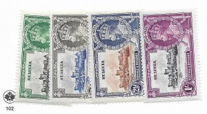 St. Lucia #91-94 MH - Stamp - CAT VALUE $16.00