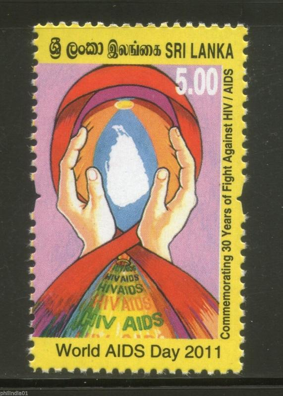 Sri Lanka 2011 World Aids Day Fight Against HIV Aids Health Disease 1v MNH #1832