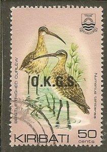 Kiribati   Scott O19   Birds  Used