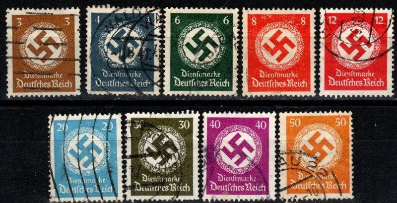 Germany #O80-1, O83-4, O86, O88-91  F-VF Used CV $13.55 (X8073)