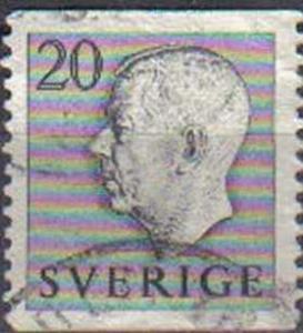 SWEDEN, 1951, used 20ore King Gustav VI Adolf