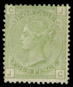 SG153, 4d sage-green plate 16, UNUSED. Cat £1400. JC